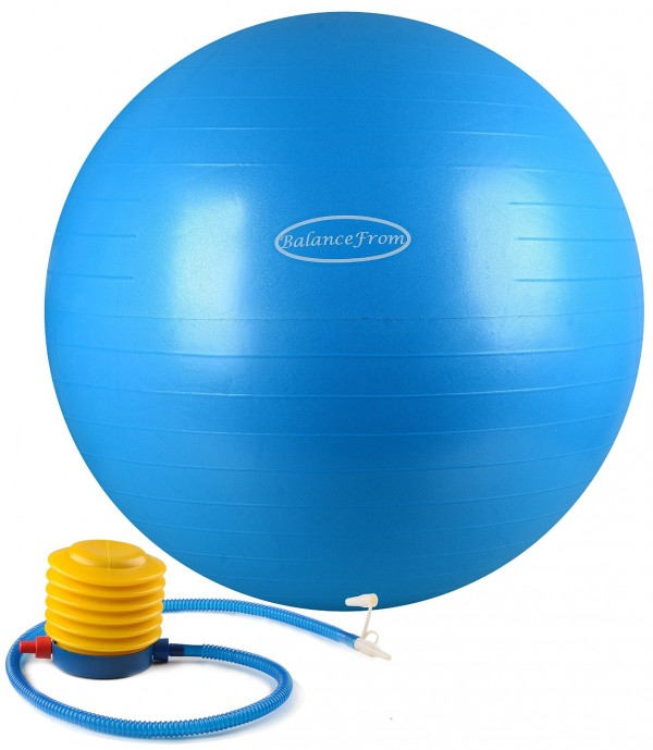 Exercise Ball 75cm Anti Burst: BalanceFrom Anti-Burst And Slip Resistant Fitness Ball